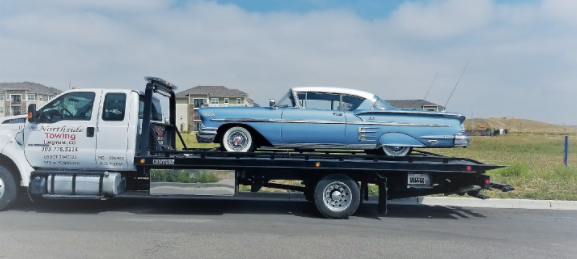 classic car flatbed towing services